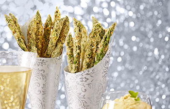 Kashi & Summer Fresh Appetizer Recipe – Hummus & Parmesan Asparagus Fries